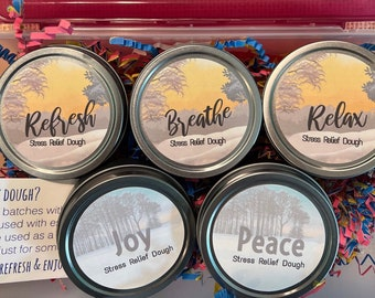 PREORDER variety Gift box Winter Stress Relief Dough. Christmas, Holiday, co-worker gift exchange, office gift, friend, Gender neutral gift