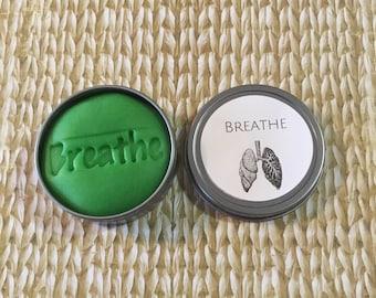 Spearmint & Eucalyptus Stress Relief Dough, Anxiety, stress ball, just breathe, friend gift, self care, boyfriend gift, squishy