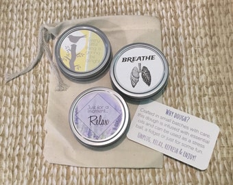 Choose 3.  Essential oil dough, stress ball, stress relief, aromatherapy, unique gift for friend, Birthday, thank you, graduation
