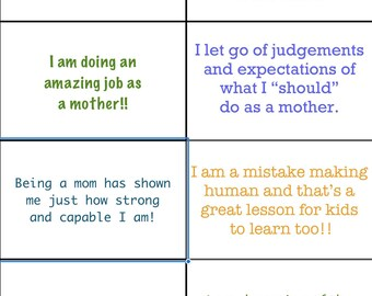 Download positive affirmations for mom, mother, self care, mental health break, calming