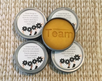 5 tins stress relief dough:employee engagement, appreciation gift, co-worker, stress relief, team work, gift from boss, bulk gift, Thank you
