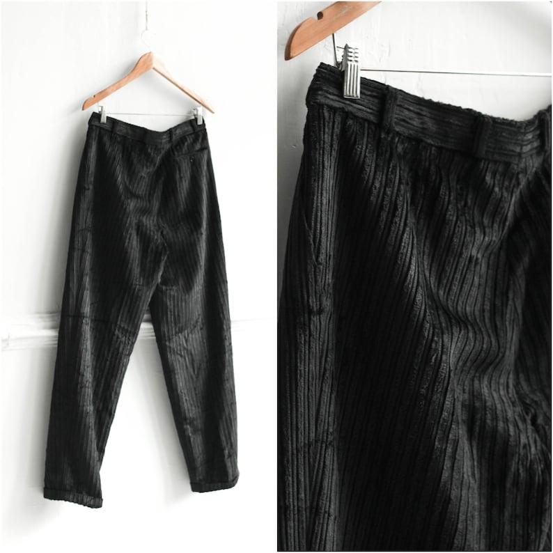Vintage Black corduroy trousers  Size Medium W32 Black men cords