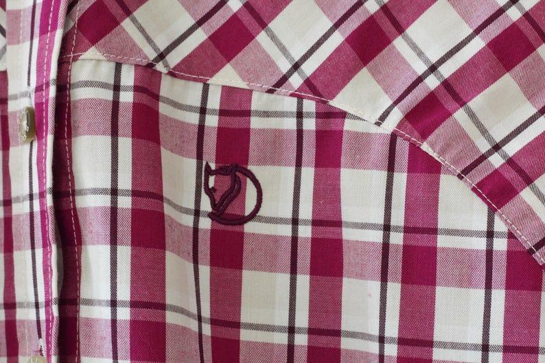 Vintage FJALL RAVEN plaid mens shirt Long sleeve shirt  Size Medium Plaid Checkered shirt