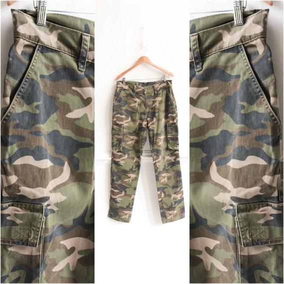 90s Cargo pants, Vintage Military Camo  Men trouse