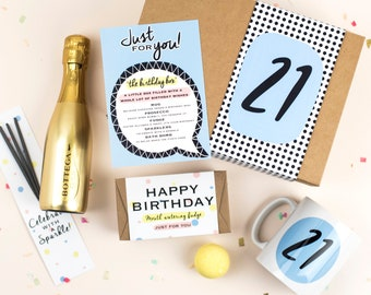 Birthday In A Box - 21st Birthday Gifts - 21st Birthday - 21st - 21st Gift - Birthday Gift - Hamper - Birthday - For Her - Gift For Women