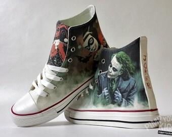 91feba118ea3 Fanart Joker and Harley requested custom shoe decoration