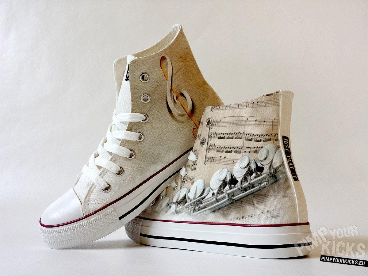 Flute, Sheet Music, Custom Made Shoes Shoes Made 1cd868