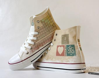 Periodic Table, I Love Science Custom Made Shoes