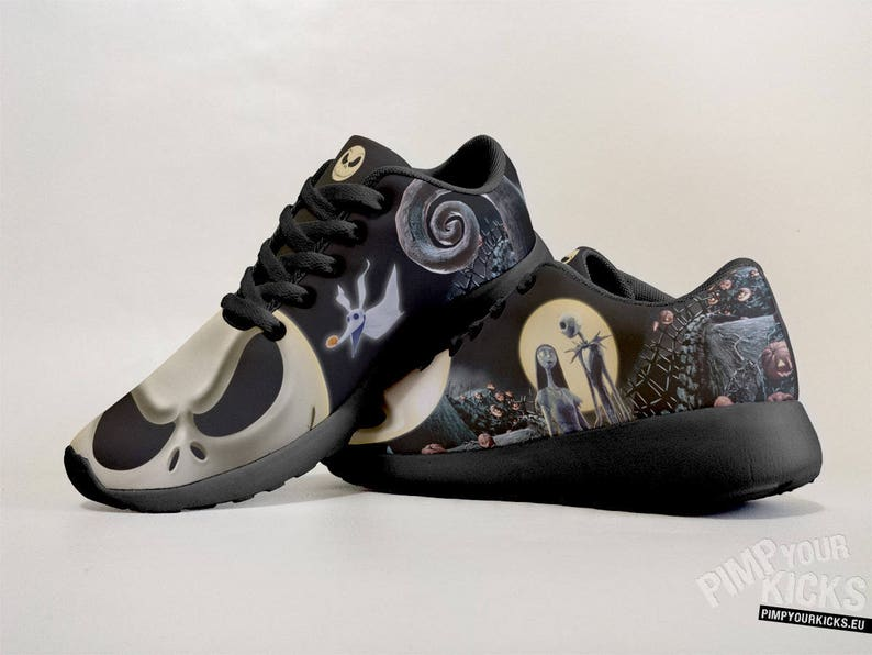 62c8f6df3a02 Fanart Jack And Sally requested Custom Made Sport Shoes