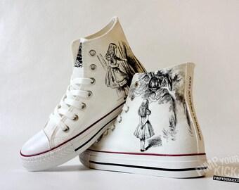 Alice's Adventures in Wonderland custom shoe decoration
