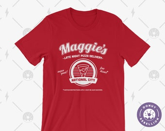 d0b250063 Supergirl - Maggie's Late Night Pizza Delivery Tee