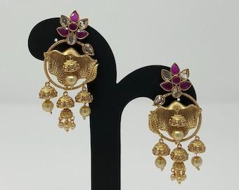 Indian Jewelry - Indian Earrings - Jhumki Earrings - Bollywood Earrings - Bollywood Jewelry - Indian Bridal -