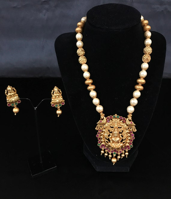 Temple Jewelry South Indian Jewelry Set Indian Bridal Set Etsy