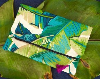 Tropical Palm Foldover Clutch