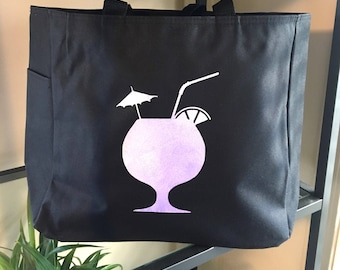 Tropical Drink Travel Tote Bag