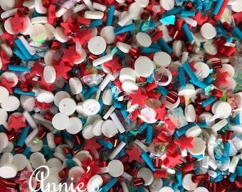 Slime Sprinkles Fake Bake Supplies Carnival Red Sprinkles Red Sprinkles Clay Sprinkles Fake Cupcake Sprinkles Polymer Clay
