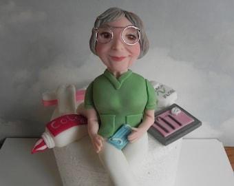 Dentist Cake Topper Personalized Customized Fondant Dental Birthday Adult