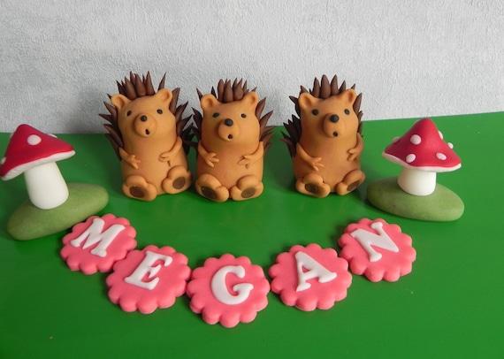 Miraculous Hedgehog Cake Toppers Birthday Cake Woodland Cake Etsy Funny Birthday Cards Online Inifodamsfinfo