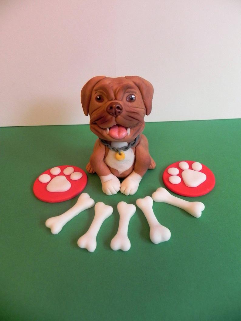 Fondant dog cake topper dog decoration birthday cake   Etsy