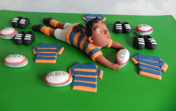 Rugby Cake Topper Cupcake Toppers