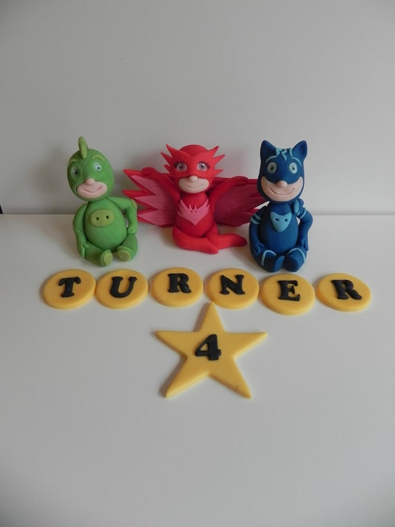 PJ Masks Inspired Cake Toppers Birthday Fondant