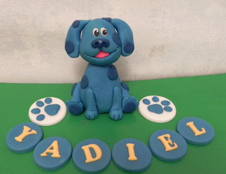 Cool Blues Clues Inspired Topper Fondant Dog Birthday Cake Etsy Personalised Birthday Cards Fashionlily Jamesorg