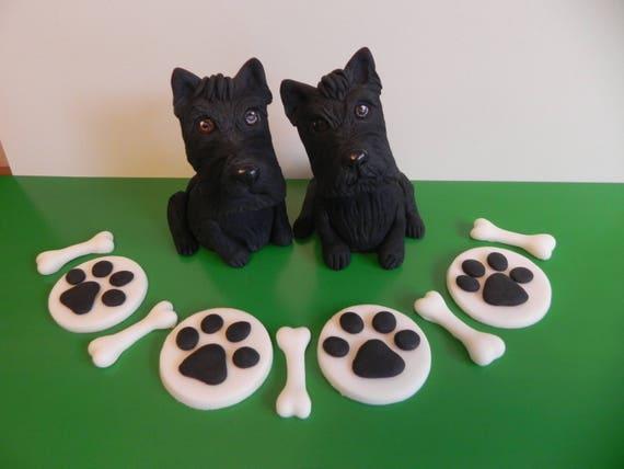 Schotse Terrier Taart Toppers De Cake Van De Verjaardag Van Etsy