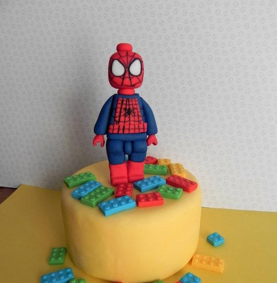 Spiderman Inspiriert Fondant Kuchen Topper Geburtstagskuchen Etsy