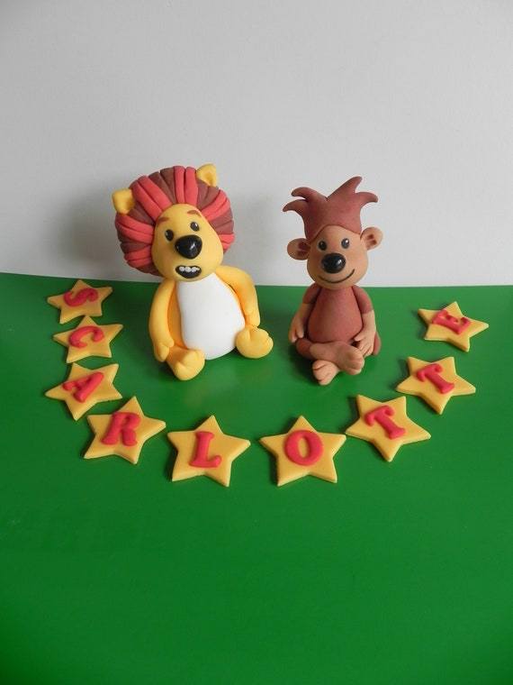 Lion And Monkey Cake Toppers Raa Raa Cake Etsy