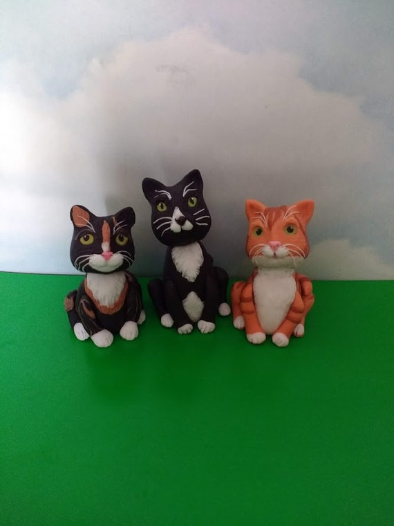 Cat Cake Toppers Fondant Cats Birthday Cake Edible Cats