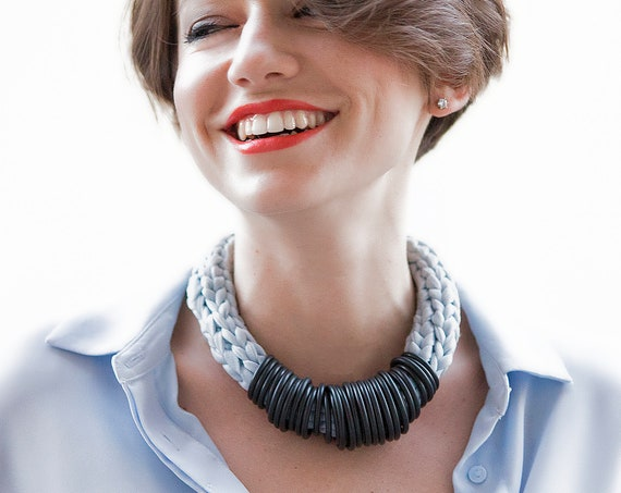 Handmade Necklace, Contemporary Jewelry, Made in Italy-Mod 46-03
