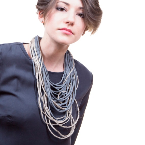 Handmade Necklace, Contemporary Jewelry, Made in Italy-Mod 24-14.2