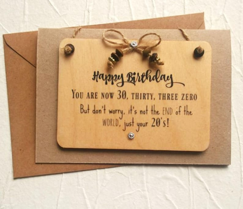 30th Personalised Birthday Card Funny For Him Or Her Handma