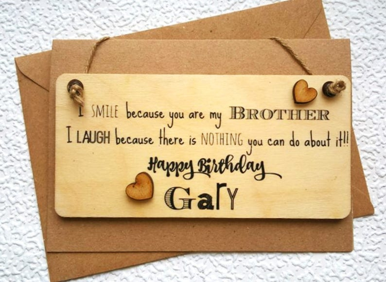 Funny Personalised Brother Birthday Card Handmade Greeting