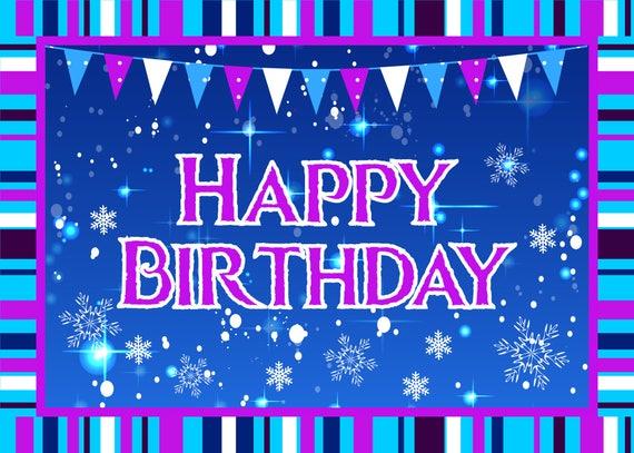 Phenomenal Frozen Birthday Card Frozen Birthday Party Frozen Greeting Etsy Birthday Cards Printable Benkemecafe Filternl