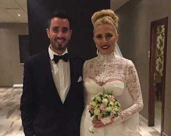 Bridal Lace Bolero, Bridal Lace Shrug, Long Sleeve Bridal Bolero, Long Sleeve Bridal Shrug