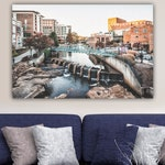 Greenville SC Downtown Photo Prints Art  (Black and White Available)
