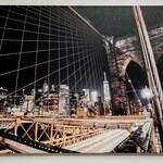Brooklyn Bridge New York City Street Canvas Print