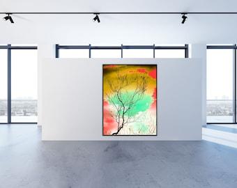Umber/_Prospect Park/_/_stunning infrared print/_2020/_archival metallic paper paper infrared postcards