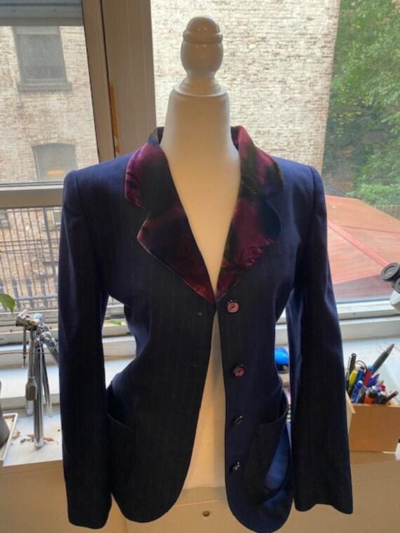 Pinstriped suit Emmanuel Ungaro/ Gorgeous suit S