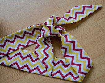 Cotton Chevron Headscarf