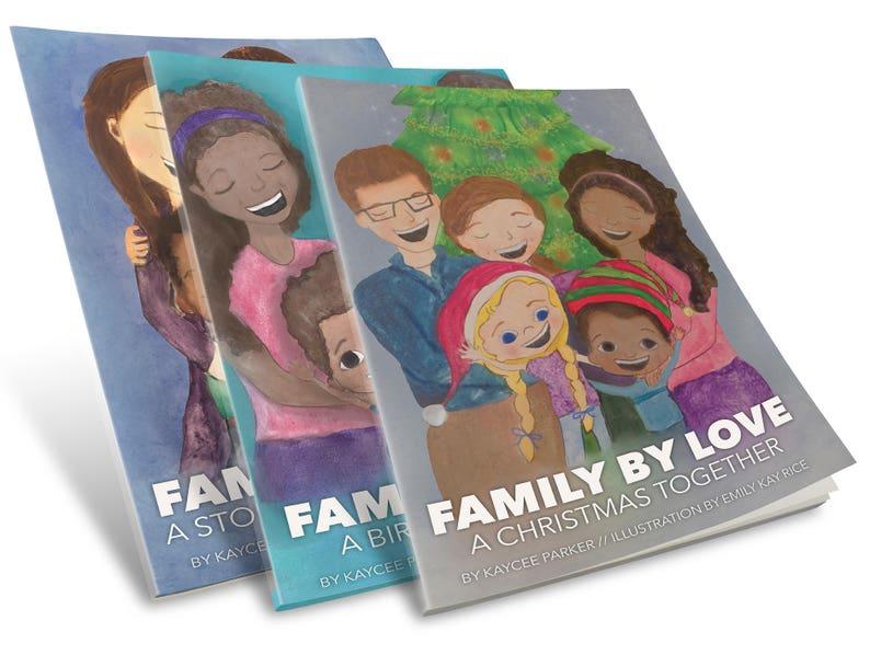 Family By Love  Three-Book Bundle  kids books  adoption image 0