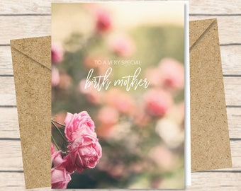 Birth Mother Card - Printed Card with Envelope / birth mother's day card print