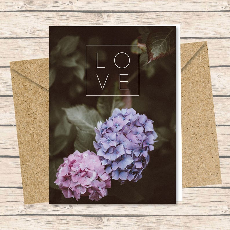 Birth Mother Card  Instant Download / Love flowers birth mom image 0