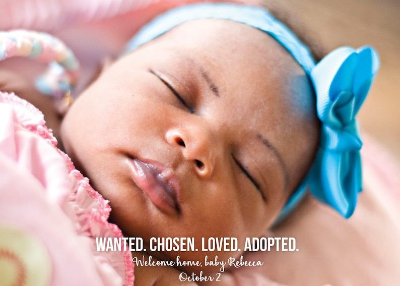 Adoption Announcement  Wanted Chosen Loved Adopted / Custom image 0