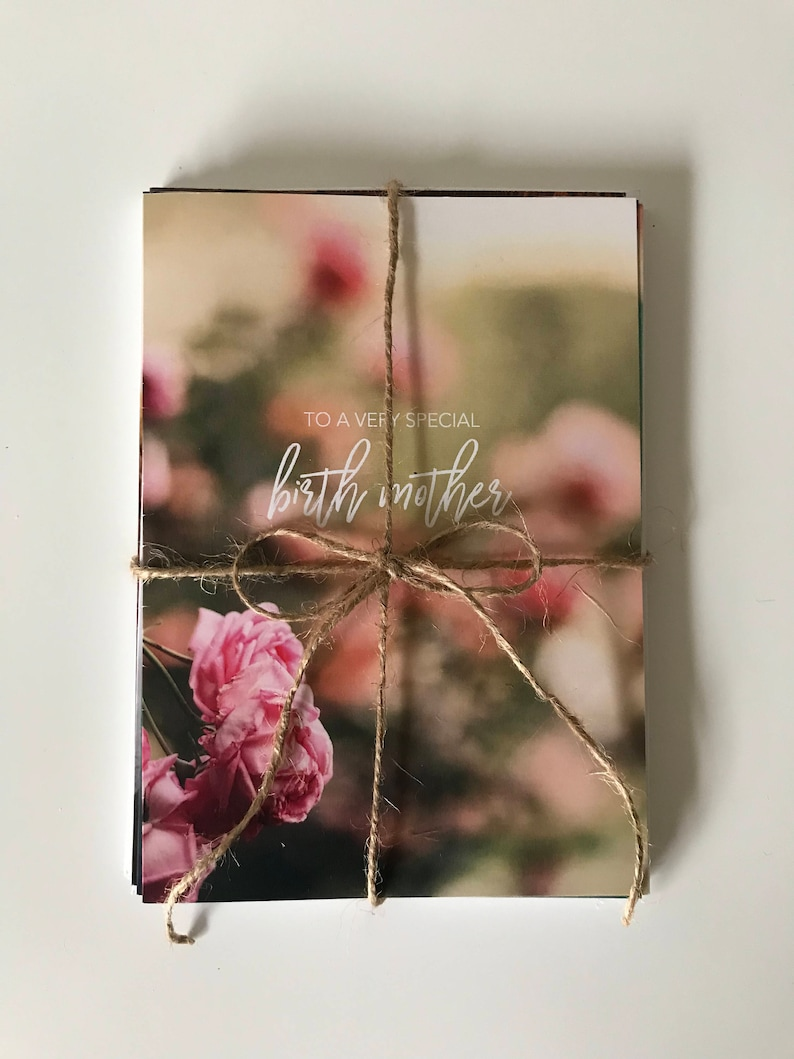 Birth Mother Cards  Pack of 6  Printed Cards with Envelopes image 0