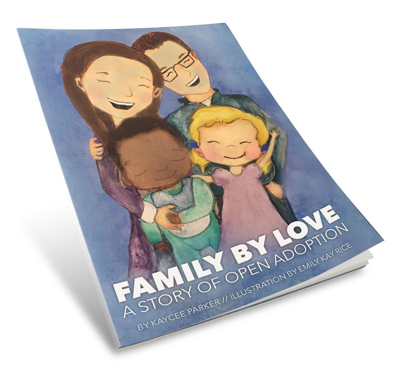 Family By Love: A Story of Open Adoption  kids book  image 0