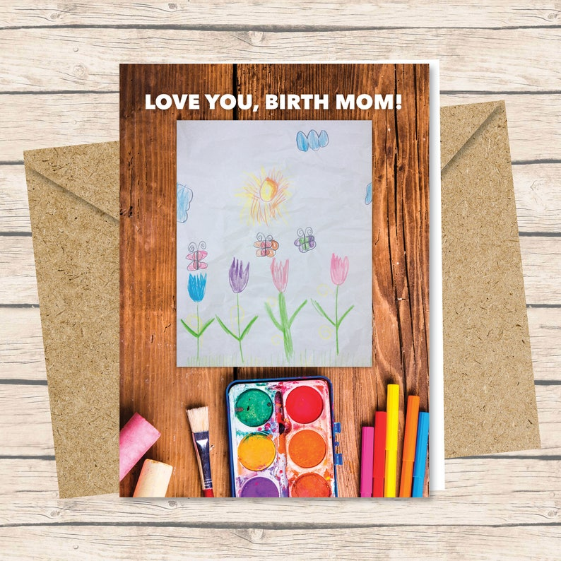 Birth Mother Card  Printed Card with Envelope / Love You image 0