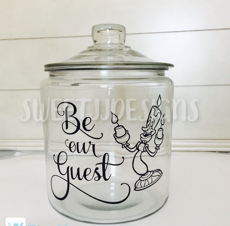 Be Our Guest Lumiere Beauty And The Beastdecal Guest Room Etsy