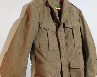 61908a3fc72 Vintage 1940 s WWII Women s XS Green Wool Peacoat Petite Military Jacket